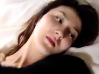 asian girl giving a blowjob pov