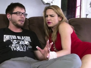 busty blonde mom loves fucking her stepson hard big cock