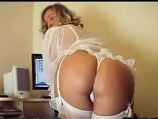 milf wearing white lingerie