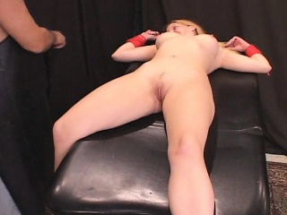 porn star candi apple roped and shock fucked