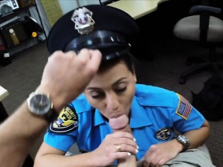 massive boobs police officer fucking with pawnkeeper