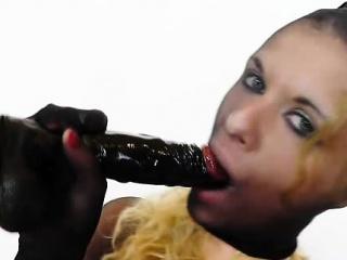 in addition to black nylon comes black plastic penis