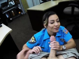 huge boobies police officer fucked to earn extra cash