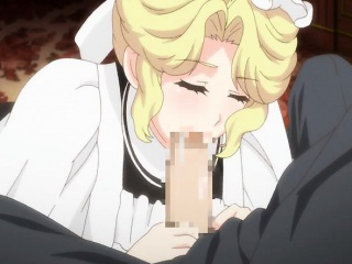 blonde hentai maid sucks and gets fucked from behind