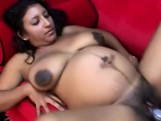 black preggo gets her pussy destroyed by a very