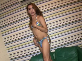 ladyboy cutie tries out sex on camera with a horny white man