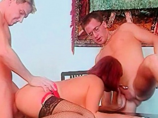 retro german pussy licking and fingering in close up