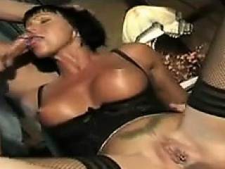 mature slut with great tits in a threesome