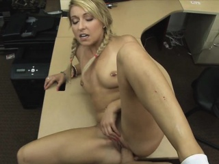 sweet blondie chick with her natural tits