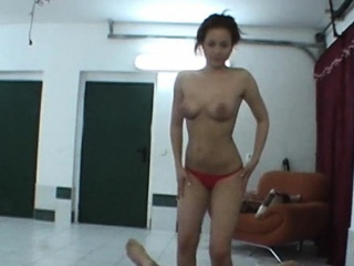 redhead lapdancer gives a show to horny guy