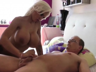 german barbie with monster tits fucked by old man