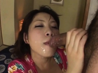 japanese av model busty is roughly pumped in mouth and twat