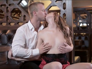 sultry redhead babe linda sweet analyzed with handsome guy