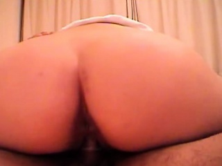 asian dame with a round ass rides in a motel