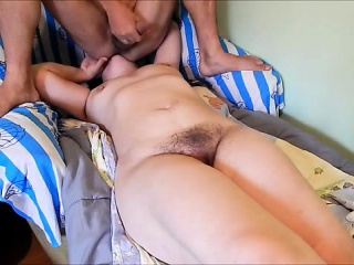he sits on her face and cums on her tits