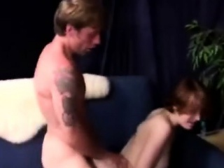 slutty red haired milf gets her pink pussy pumped doggystyle