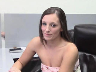 busty secretary ass fingered and sucking cock
