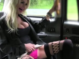 blonde lady gets slammed hard in the cab