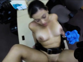 latina police officer fucked by pawn guy in the backroom
