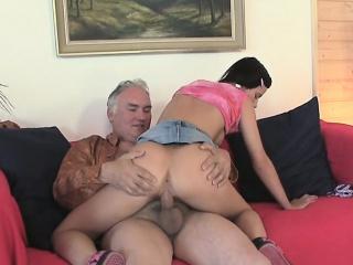 enjoyable young sweetie is fascinated to ride old hard dick