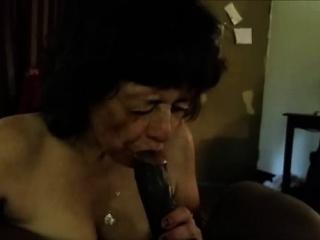 experienced granny giving pleasure to a bbc