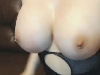 big boobed hot chick with pierced pussy and ass