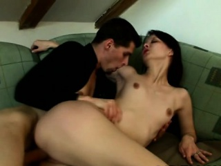 beautiful honey enjoys hardcore sex and gives a good blowjob