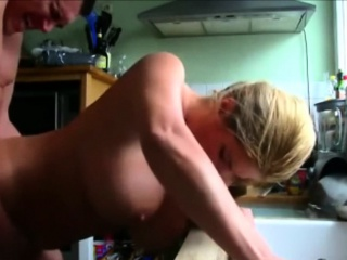 busty beauty bent over the sink and fucked