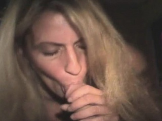blonde street whore telling stories while sucking dick pov