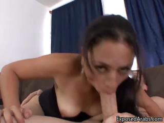 horny libanese slut loves fucking a big