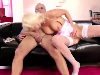 hot young blonde european slut fucks older british guy