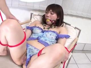 strong japanese bondage fuck for tight kana mimura