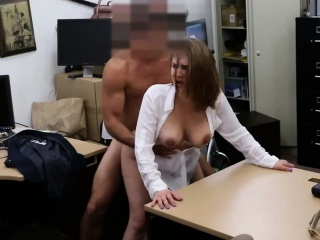 foxy business lady fucked for a plane ticket back home