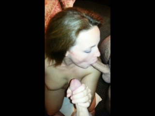 horny amateur milf blowing multiple cocks