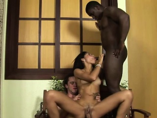 liz and her bf play with a black guy