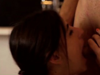 spanish beauty ena sweet gives her man a lusty blowjob then