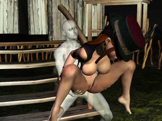busty 3d babe getting fucked hard by a ghost