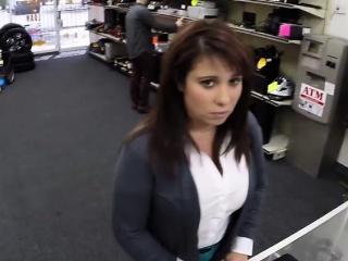 desperate milf shows big tits for cash