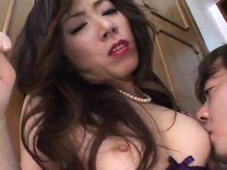 japanese model deals dick in each of her holes
