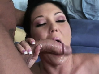 slamming session with claire dames ends with cum swallowing