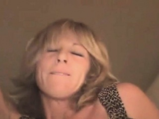 mature blonde street whore riding on dick point of view