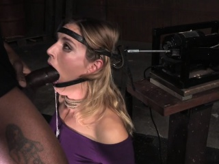 mona wales facefucked while tied to sybian