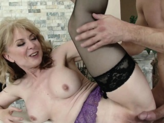 busty mature lady pounded with young cock