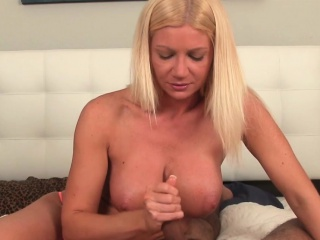 cock teasing milf edging cock with handjob
