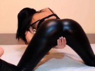 hot webcam model in leather pants