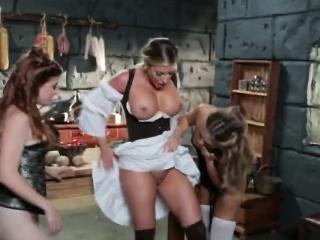 naughty milf blonde lesbian maiden three way pussy fucking