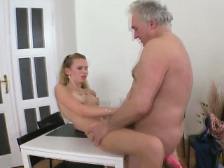 active old crock bonks young sweet nympho incredibly hard