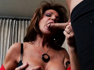 big tits brunette milf loves young thick long cock deauxma