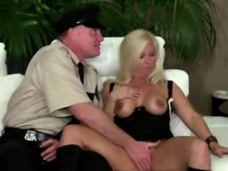 horny mature couple getting to know the swinger world