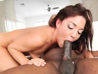 doggy style anal brunette black schlong sucking